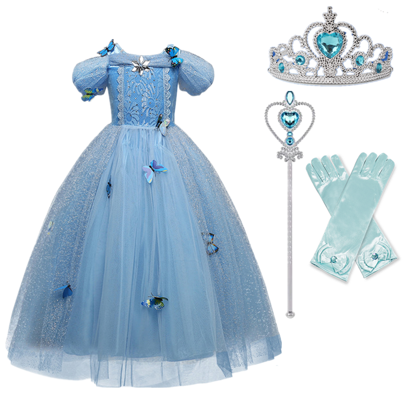 Girls Princess Costume For Kids Halloween Party Cosplay Dress Up Children Disguise Fille 5