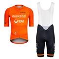 Мужской оранжевый комплект для велоспорта Euskaltel Pro, комплект для велоспорта с коротким рукавом, комплект для велоспорта, комплект для велосп...