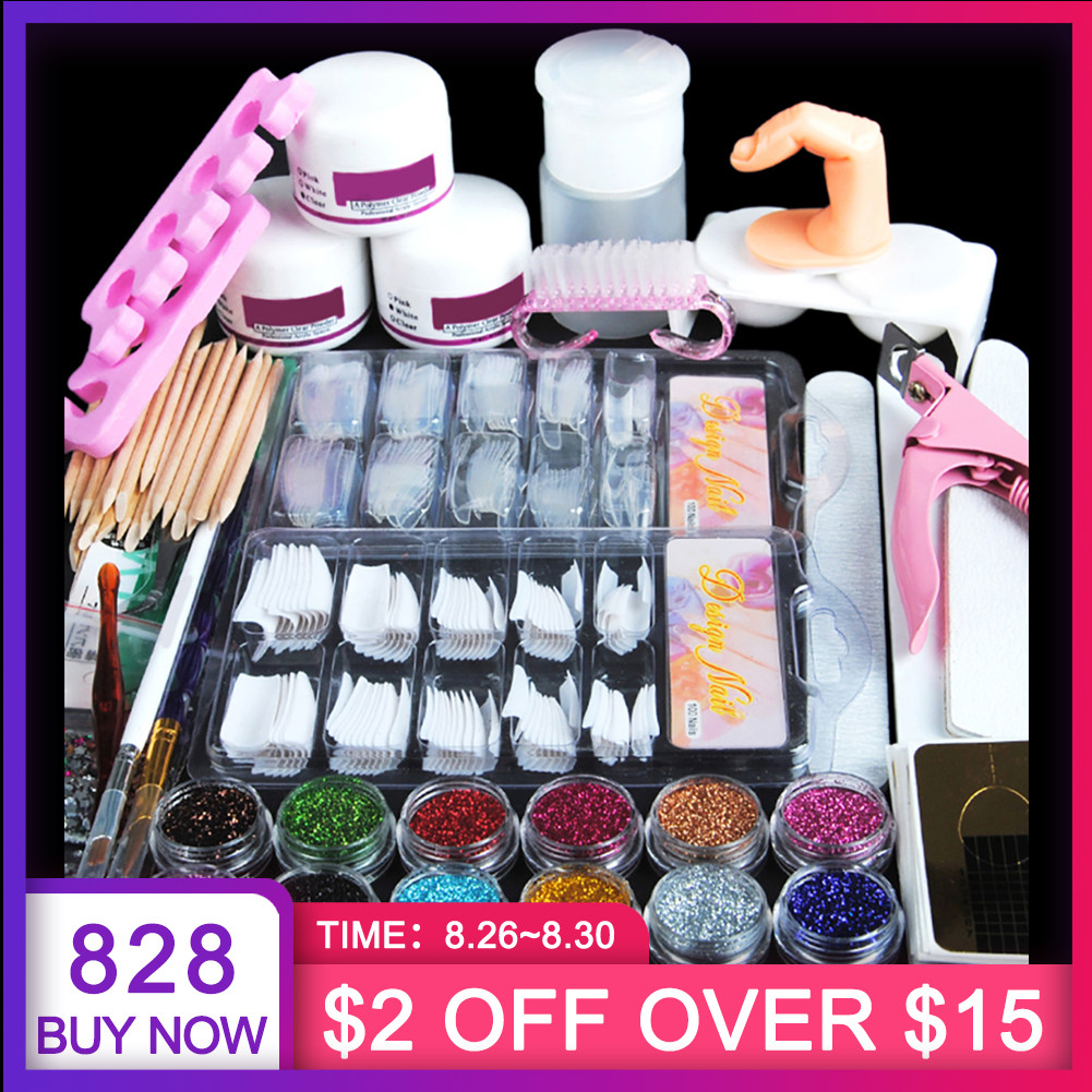 Pen-Brush Manicure-Set Nail-Art-Tool-Kit Nail-Glitter-Powder-Decoration Beginners Acrylic