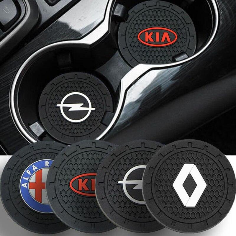 1 шт. Противоскользящий коврик для подстаканника, автомобильные аксессуары для подставки под водой для Audis A3 B8 A4 Sline RS TT TTS 8P B6 A6 B7 8V Q5 Q7 C5 A5 B5 A7