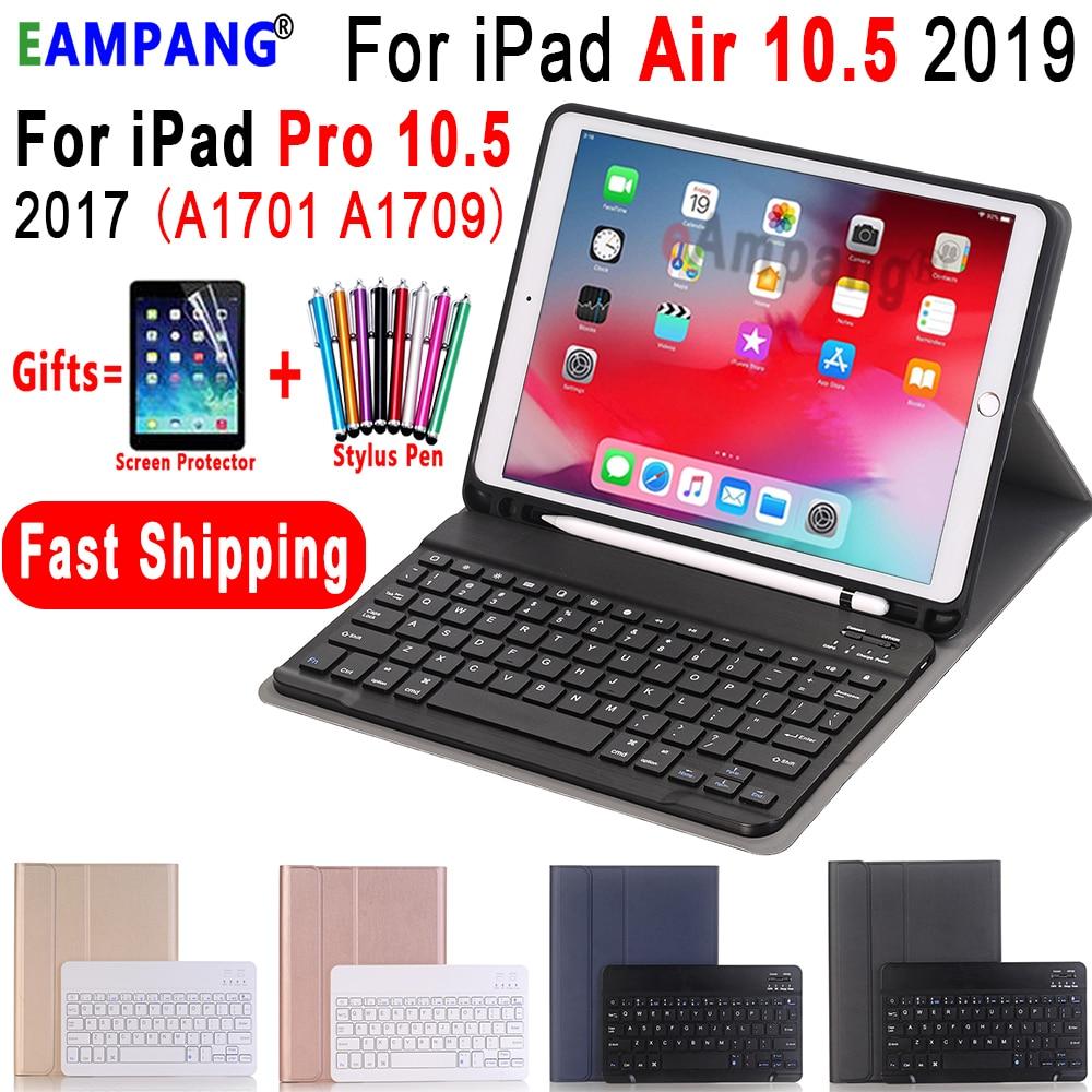 Keyboard Case For Apple IPad Air 10.5 2019 Air 3 IPad Pro 10.5 2017 A1701 A2152 Bluetooth Keyboard Case Cover Funda Pencil Slot