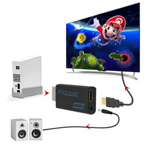 Конвертер WII to HDMI Full HD 1080P WII to HDMI Wii 2 HDMI конвертер 3,5 мм аудио для ПК HDTV монитор дисплей Wii To HDMI адаптер