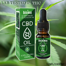 10ML Strong Effect CBD 1000mg Hemp essential oil includes many hemp Elements good for body and brain relief pain anti-anxiety