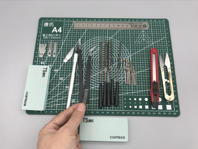 A4 Grid Line Self Healing Cutting Mat Craft Card Fabric Leather Paper Board Manual Modeling Components Pvc Mat Pencil Knife Tool