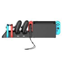 Nouveau support de chargeur multifonction 6 en 1 station de charge pour Console de jeu Nintend Switch contrôleur Pro support de chargeur Dock