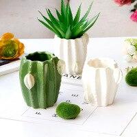 Suculenta planta pote bonito cerâmica decorativo vaso de flores cactus cerâmica vaso de flores decoração para casa suculenta plantador