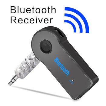 TIOODRE przenośny bezprzewodowy odbiornik Bluetooth zestaw głośnomówiący do zestawu samochodowego Mic telefon Mp3 3 5mm Jack nadajnik dźwięku zestawy Adapter tanie i dobre opinie Plastic + Metal 5*2*1cm Bluetooth Music Receiver
