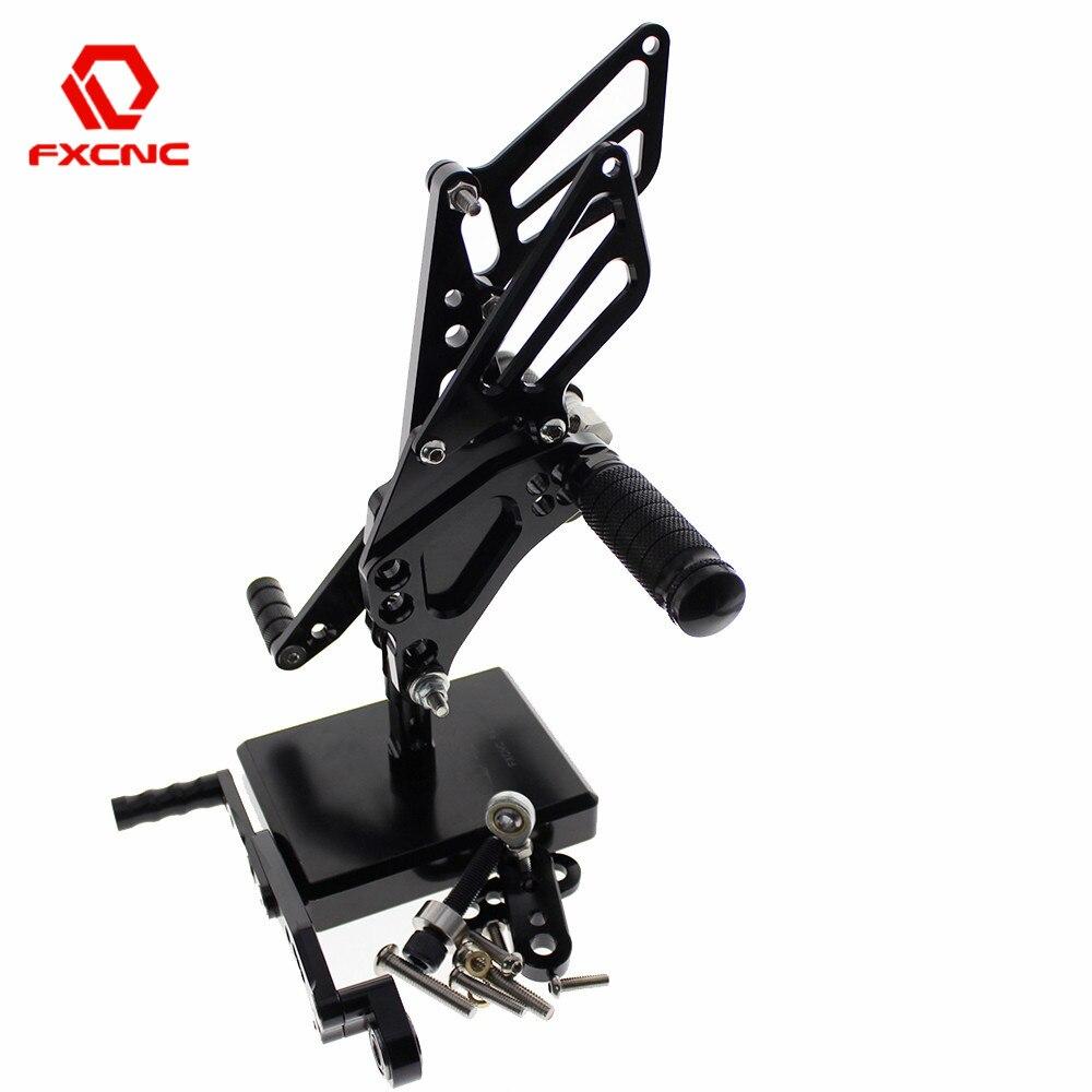 For SUZUKI GSXR 600/750 GSXR600 GSXR750 2011-2015 Motorcycle Footrests Aluminum Rearset Rear Set Footpeg Foot Rests