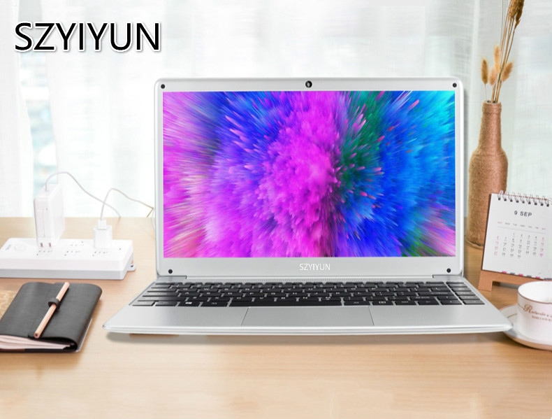 14 Inch Intel N3520 Ultrabook Laptop 4G RAM 128G SSD Quad Core Buiness Office Office Notebook Computer Portable Student Netbook