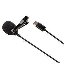 Type C Mini Lavalier Microphone, for Android System TYPE-C Interface Mobile Phone Computer K Song Recording Microphone(China)