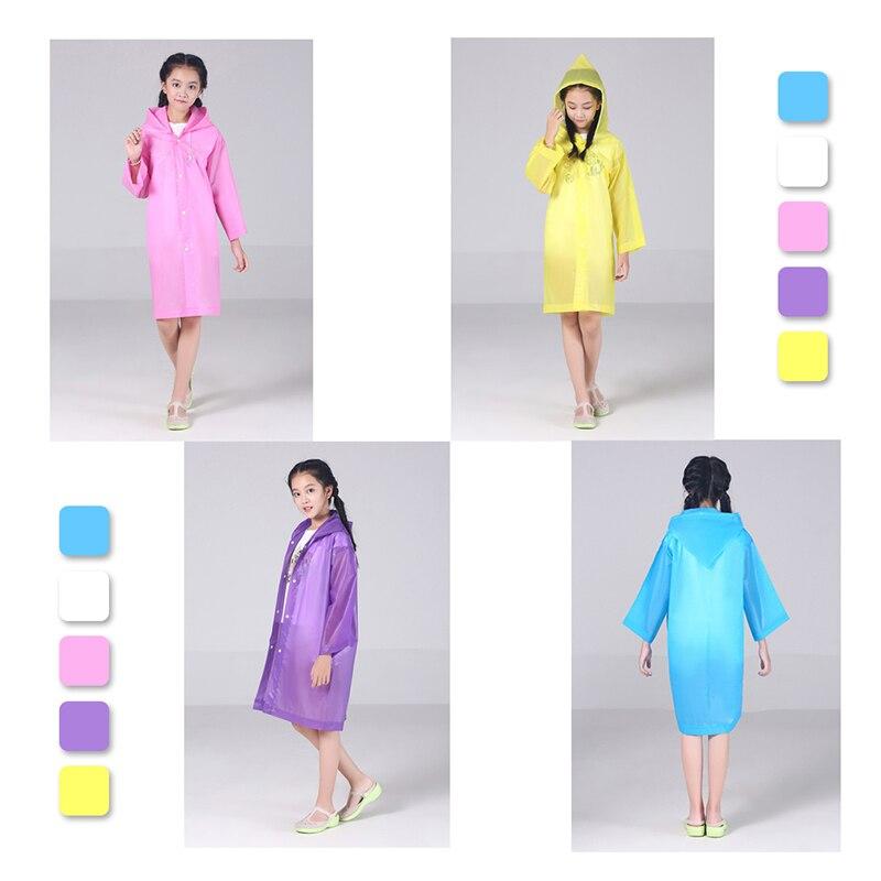 Children Boy Girl Kid Raincoat Rain Coat Rainwear Suit Poncho Cape Hooded Jacket
