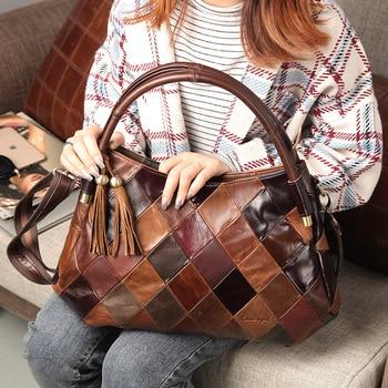 Cobbler Legend New Ladies 2019 Women Genuine Leather Handbag Cow Leather Tote Bag Bolsas Femininas Female Shoulder Bag Hand Bag