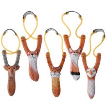 Hunting Slingshot Catapult Wood Powerful Outdoor New for Animal-Sculpture