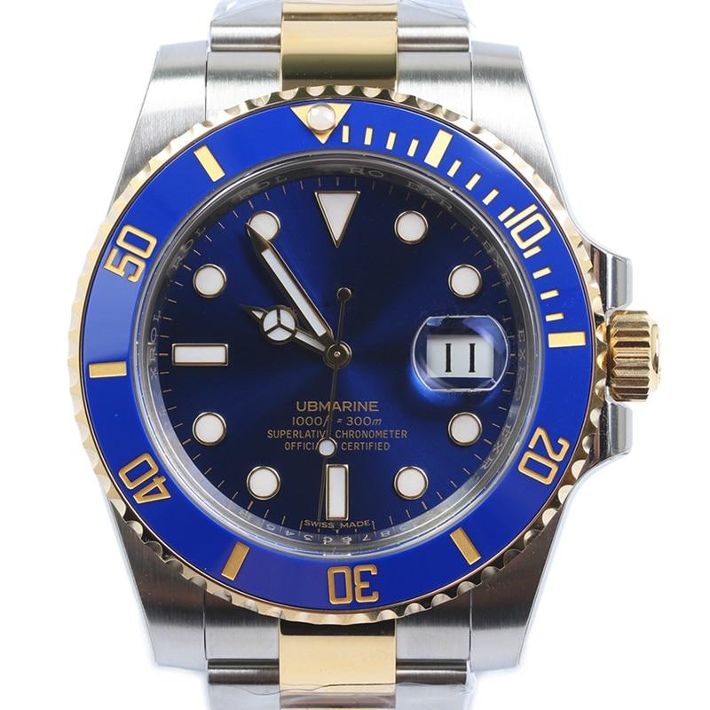 Célèbre Top marque hommes montre mécanique qualité SUB MARINER luxe hommes Oyster automatique auto-vent montre-bracelet montre de plongée 116610/3