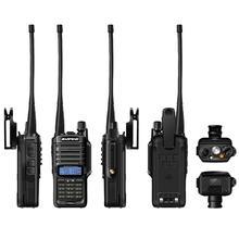 Walkie talkie baofeng 2019 plus, rádio de alta potência à prova d água, novo, 10w, dois canais, longo alcance, UV 9R km 4800mah uv 9r plus