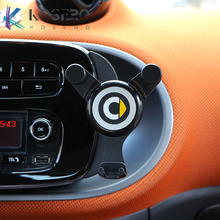 Car mobile phone Bracket navigation frame gravity Bracket For Mercedes Smart 450 451 453 Fortwo Forfour interior Charging stand