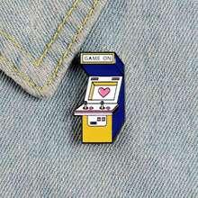 Vintage Arcade juego máquina broche esmalte juego alfiler de solapa broches camisa bolsa Video juego insignia TV juego joyería niños amigos regalo