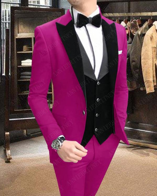Dress Prom Men/'s Hot Pink Satin Tuxedo Vest /& Bow-Tie Set Formal Wedding