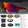 Polarizado óculos de ciclismo homem esporte óculos de sol photochromic uv400 5 lente deportivas polarizadas hombre gafas oculos ciclismo 14