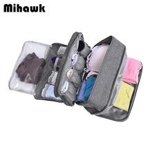 Mihawk Travel Underwear Bags Women's Cosmetic Makeup Clothing Bra Organization W