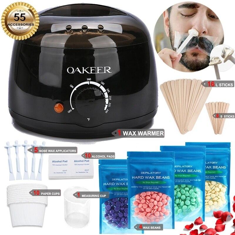 Wax Warmer Heater Hair Remover Machine Eyebrow Epilator SPA Wax Epilator New Waxing Kit Body Waxing For Men And Women