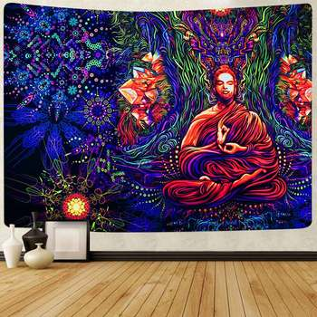 Simsant Psychedelic Shrooms Tapestry Colorful Abstract Trippy Tapestry Wall Hanging Tapestries for Home Dorm Fantasy Decor 32