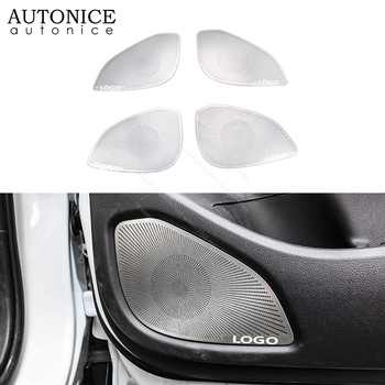 4pcs Stainless Steel Speaker Cover Doors Sound Trim Fit for Mitsubishi Eclipse Cross 2018 2019 2020