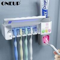 ONEUP Антибактериальный 3 в 1 УФ держатель для зубных щеток стерилизатор автоматический соковыжималки для зубной пасты диспенсер для дома акс...