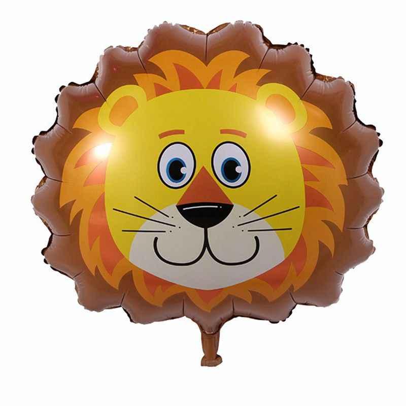 1 pièces 66*46cm tête d'animal ballon singe Lion zèbre cochon vache kangourou feuille ballons fête d'anniversaire décor Safari Zoo balles enfant jouet