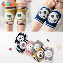 Doki Toy Kid Knee Protector Mesh Breathable Non-Slip Crawl Protection Toddler Baby Cute Cartton 1Pair Knee Pads Support Fashion