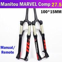 Manitou MARVEL Comp 100*15mm 27.5er 27.5inche Bicycle Fork Mountain MTB Bike Fork Front suspension  Manual remote control