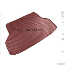Special trunk mats waterproof durable leather carpets for  2011 2015 for Toyota FORTUNER
