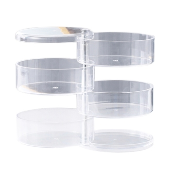 4 Layers Transparent Rotating Jewelry Box Earring Necklace Ring Jewelry Storage Box Multifunctional Jewelry Box Storage Rack image
