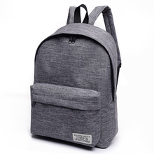 Men Male Canvas black Backpack College Student School Backpack Bags