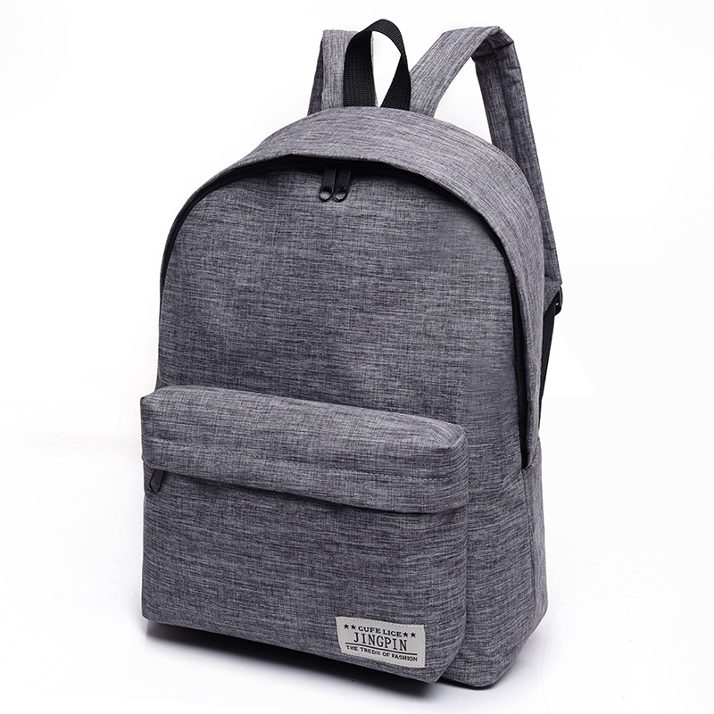 Men Male Canvas Black Backpack College Student School Backpack Bags For Teenagers Mochila Casual Rucksack Travel Daypack Unisex