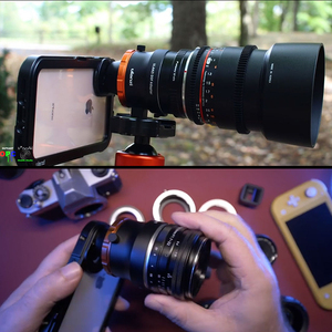 Image 5 - Ulanzi キヤノンニコン自由度自由度スマートフォン用フルフレームカメラレンズアダプタ iphone 11 E マウントレンズ一眼レフカメラ