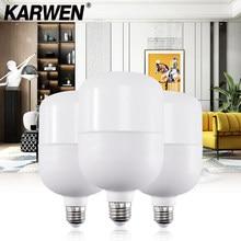 Karwen lâmpada led e27, sem cintilação, 5w, 10w, 15w, 20w, 30w ampola de led blub 220v para lâmpada de mesa em casa