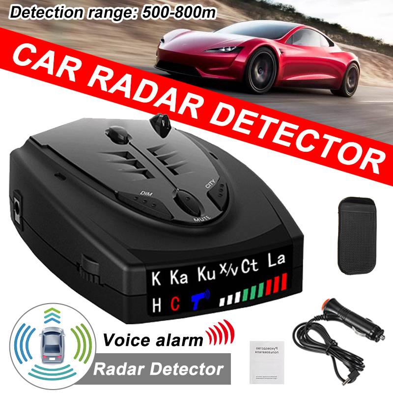 Accurate 800m Car Radar Detector Auto 360 Degree Vehicle Speed Voice Alert Alarm Warning LED Display Car Speed Testing System