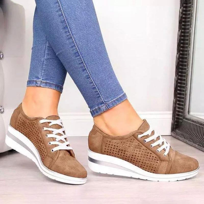 Green Women Shoes 2019 Fashion Breathable Platform Wedge Shoes Sneakers Women Plus Size Casual Shoes Woman Zapatos De Mujer