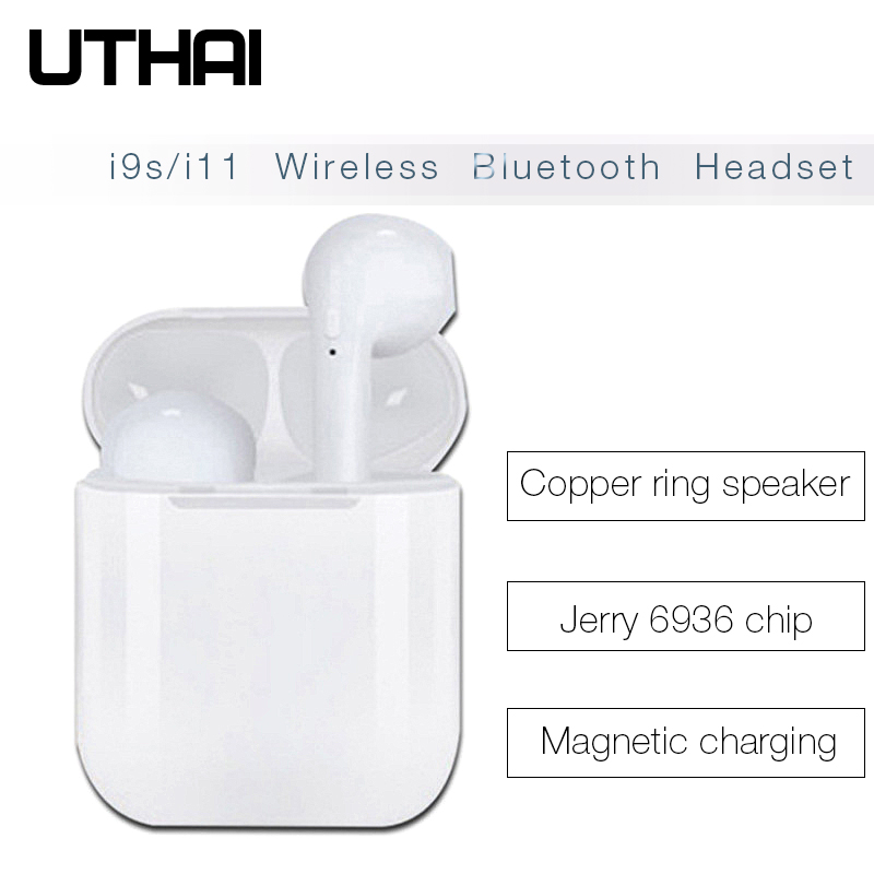 UTHAI <font><b>Bluetooth</b></font> Wireless <font><b>Earphones</b></font> i9s <font><b>TWS</b></font> i11 i12 <font><b>i13</b></font> <font><b>Bluetooth</b></font> Wireless <font><b>Earphones</b></font> Mic Sports Stereo Earbuds With Charging Box image