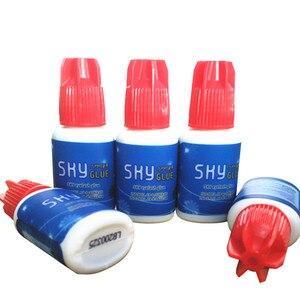 Image 5 - Pegamento del cielo coreano Original labio rojo 5 botellas/lote pegamento de extensiones de pestañas más rápido y más fuerte pegamento de pestañas Etiqueta Privada pegamento para pestañas postizas