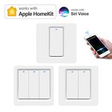 Apple Homekit нейтральный нужен Wi-Fi EU Стандартный Смарт кнопочный переключатель прерыватель умного дома светильник переключатели 1/2/3 местный 1 по...