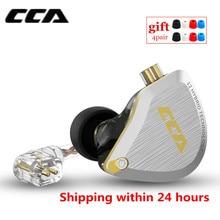 Наушники вкладыши CCA C12 5BA 1DD гибридные, металлическая Hi Fi гарнитура, спортивные музыкальные наушники со сменным кабелем ZS10 PRO AS12 AS16 ZSX C16