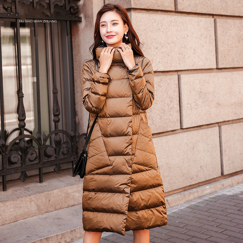 Women Winter Jacket Ultra Light Women's Down Jacket White Duck Down Jackets Long Warm Slim Coat Female Clothes 95434LW666