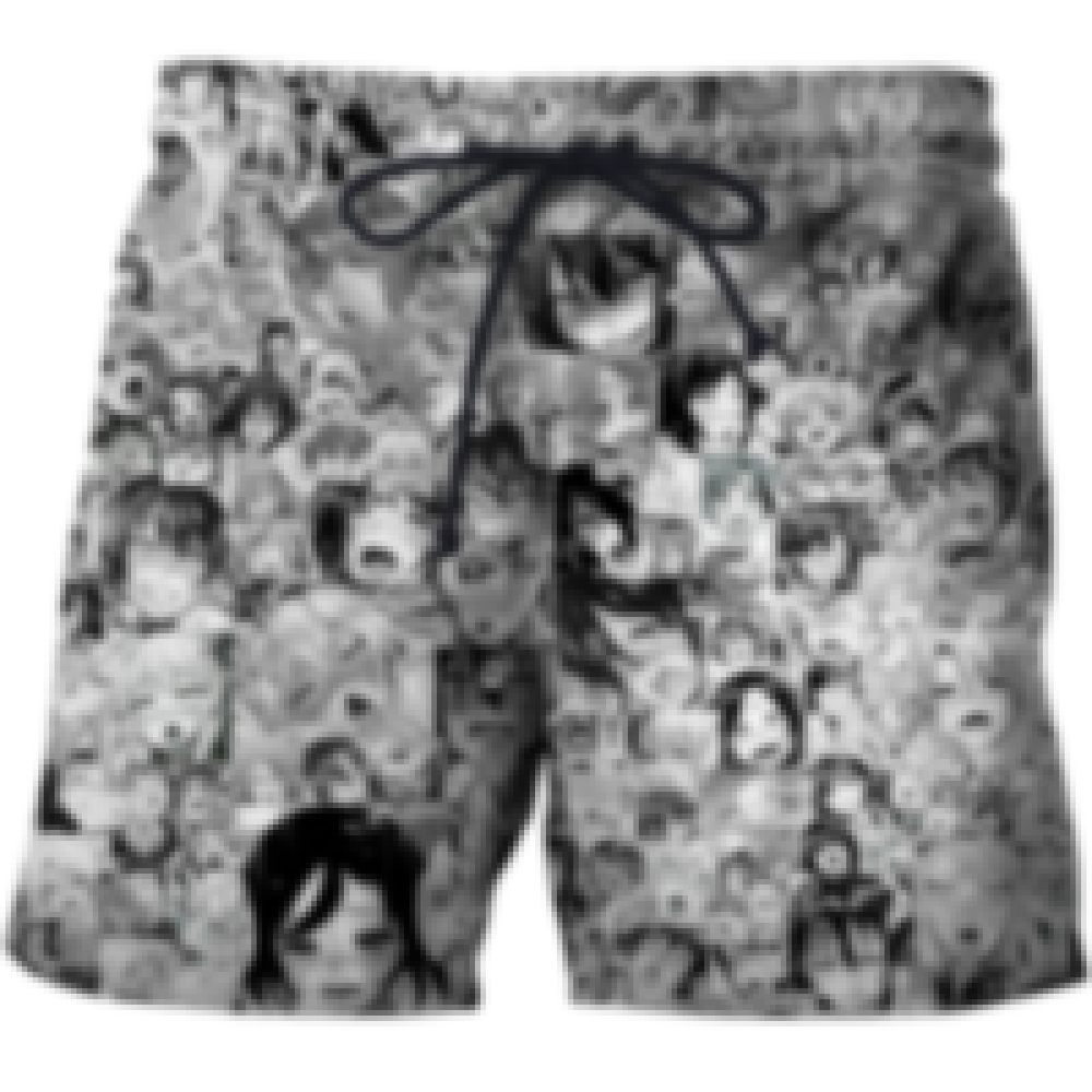 Open Mouth Ahegao 3D Print Men Beach Pants Summer Men's Sea Surfing Pants Black And White Casual Shorts S-6xl ZOOTOP BEAR