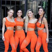 Yoga Hosen Frauen Nahtlose Fitness Kleidung Sportswear Frau Gym Leggings Padded Push-Up Strappy Sport Bh Sport Set Trainingsanzug