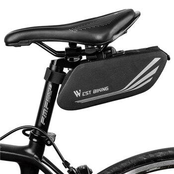 West Radfahren Rennrad Sattel Tasche Wasserdichte Fahrrad Fahrrad Tasche Hinten Sitz Sack Zyklus Radfahren Tasche Ausrüstung Pannier Zubehör|Fahrradtaschen & Koffer|   -