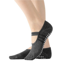 Chaussettes de Yoga antidérapantes pour femmes, avec poignées, professionnelles, respirantes, confortables, en coton, Pilates