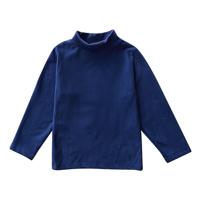 Solid Boys T-Shirts Autumn Long Sleeve Turtleneck High Collar Tee Shirts Warmer Girls Bottoming Shirt Kids Top underwear 2-16Y 6