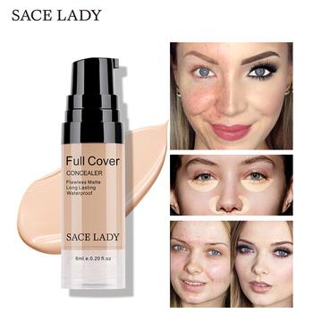 SACE LADY Full Cover 8 kolorów płynny korektor makijaż 6ml oko ciemne koła krem korektor twarzy wodoodporna baza do makijażu kosmetyki tanie i dobre opinie Wszystkich rodzajów skóry Pożywne Kontrola oleju Pory Wodoodporna wodoodporny Inne Rozjaśnić Naturalne Rozmiar próbki